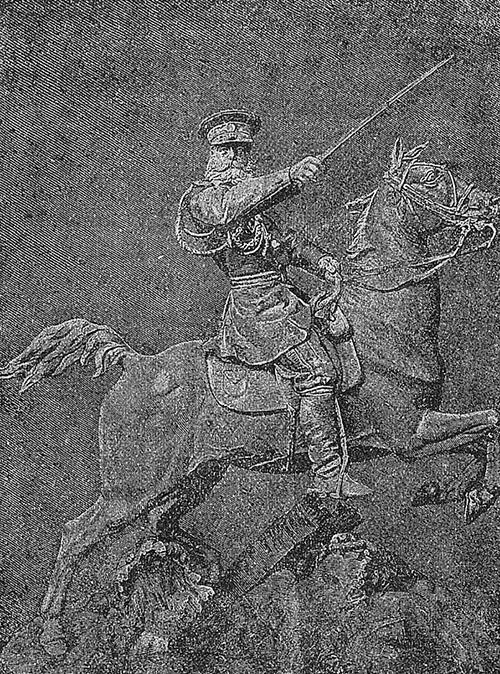 Генерал Скобелев. Гравюра из книги 1916г.